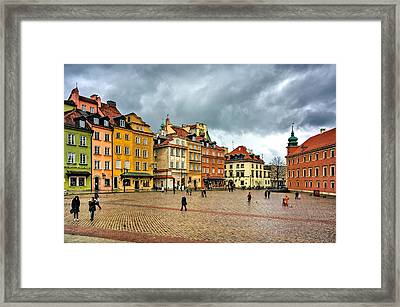 The Royal Castle Square Framed Print