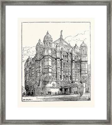 The Royal English Opera House In Cambridge Circus Exterior Framed Print by English School
