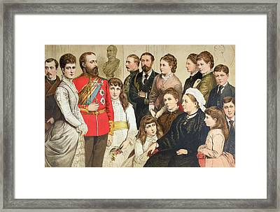 The Royal Family, 1880 Colour Engraving Framed Print by English School