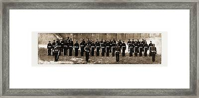 The Royal Guernsey Militia The Detachment In London Framed Print by Litz Collection