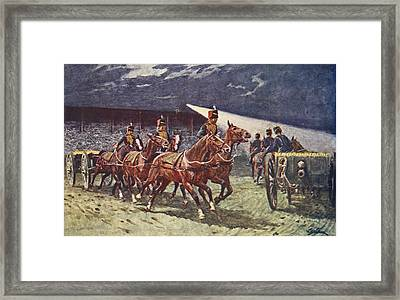 The Royal Horse Artillery Drive Framed Print by William Barnes Wollen