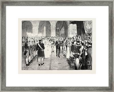 The Royal Marriage At Berlin, Germany Torch-dance Framed Print
