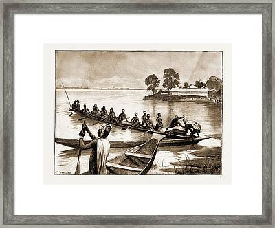 The Royal Niger Companys Expedition Everyday Scenes Framed Print
