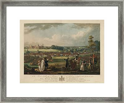 The Royal Review In Hatfield Park Framed Print by British Library