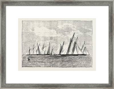 The Royal Thames Yacht Club Channel Match, Engraving 1876 Framed Print