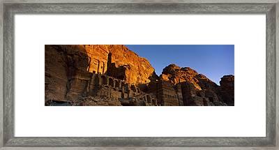 The Royal Tombs At Petra, Wadi Musa Framed Print by Panoramic Images