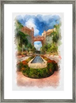 The Royal Towers Atlantis Resort Framed Print by Amy Cicconi