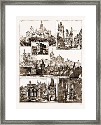 The Royal Wedding In Austria, Sketches In Prague, Where Framed Print by Litz Collection