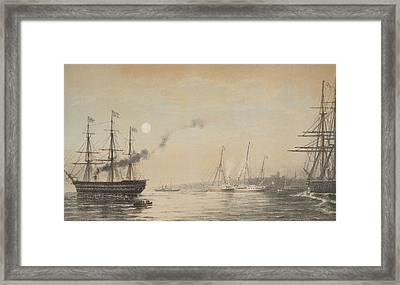 The Royal Yacht Off Margate Evening Framed Print by English School