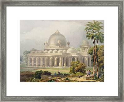 The Roza At Mehmoodabad In Guzerat, Or Framed Print by Captain Robert M. Grindlay