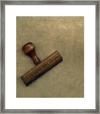 The Rubber Stamp Framed Print by Bob RL Evans
