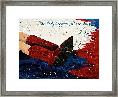 The Ruby Slippers Of The South Framed Print by Debi Starr