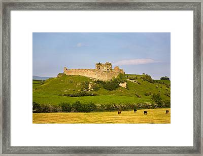 The Ruined Walls Of Roche Castle Framed Print by Panoramic Images