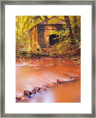The Ruins Of An Old Mill Framed Print