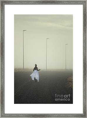 The Runnaway Bride Framed Print