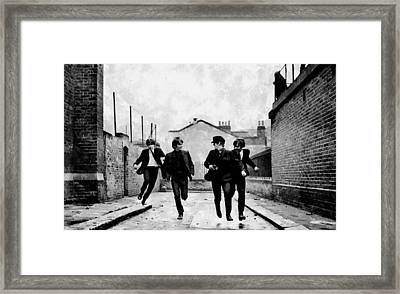 The Running Beatles Framed Print