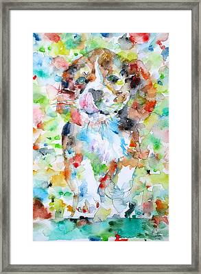 The Running Puppy Framed Print