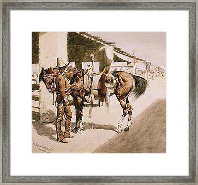 The Rural Guard Mexico Framed Print by Frederic Remington