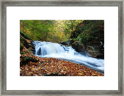 The Rushing Waterfall Framed Print