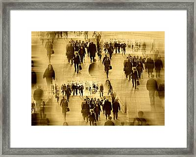The Rush Framed Print by Diana Angstadt