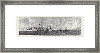 The Russian Navy At Cronstadt Framed Print