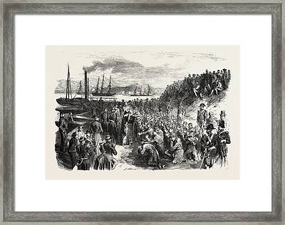 The Russian Prisoners And The Popes Blessing At Toulon Framed Print