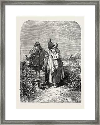 The Russian Serf Framed Print by Jenkins, Joseph John (1811-1885), British