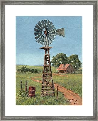 The Rusty Barrel Framed Print by Randy Follis