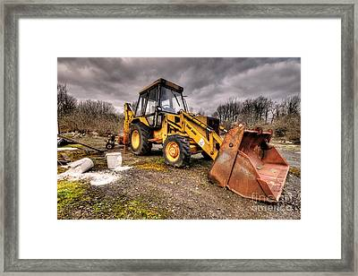 The Rusty Digger Framed Print