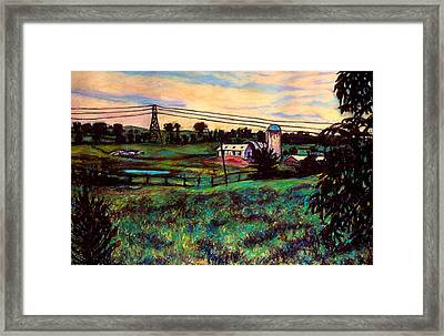 The Rusty Silo Framed Print by Kendall Kessler
