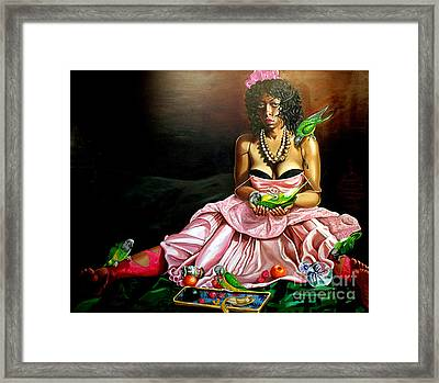 The Sacrafice Of Montynegro Framed Print by Shelley Laffal