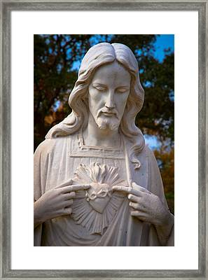 The Sacred Heart Framed Print by Linda Unger