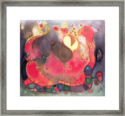 The Sacred Snake Framed Print by Jane Deakin
