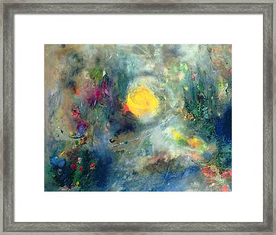 The Sacred Spiral Framed Print by Jane Deakin