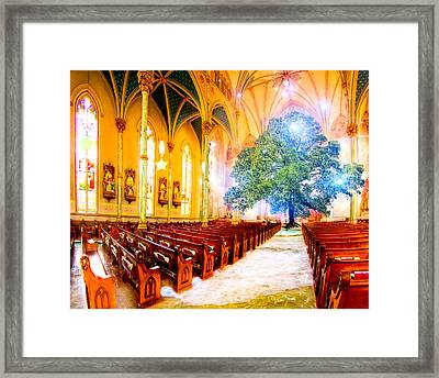 The Sacred World Framed Print by Mark E Tisdale