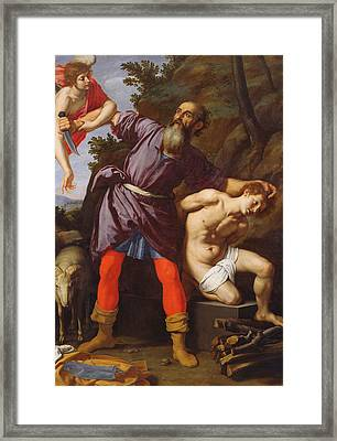 The Sacrifice Of Abraham Framed Print by Cristofano Allori