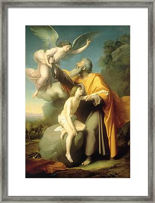 The Sacrifice Of Isaac Framed Print by Santiago Rebull