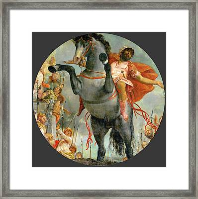 The Sacrificial Death Of Marcus Curtius Framed Print by Paolo Veronese
