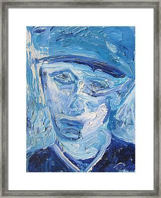 The Sad Man Framed Print by Shea Holliman