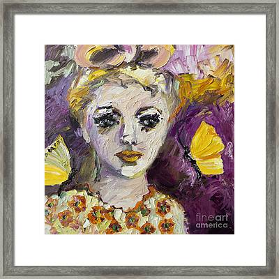 The Sadness In Her Eyes Framed Print by Ginette Callaway
