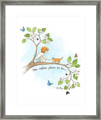The Safest Place To Be Framed Print by Amanda Francey