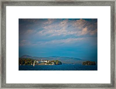 The Sagamore Hotel On Beautiful Lake George Framed Print