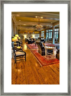 The Sagamore Resort Lobby Framed Print by David Patterson