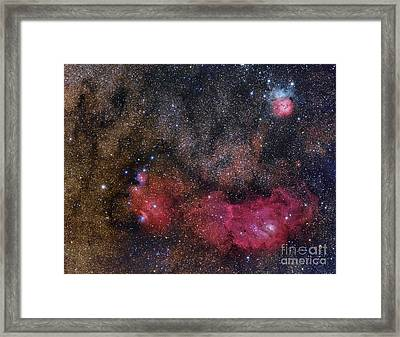 The Sagittarius Triplet Featuring Framed Print by Roberto Colombari