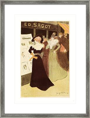 The Sagot Address, French, 1874  1907, 1898 Framed Print by Bottini, George (1874-1907), French