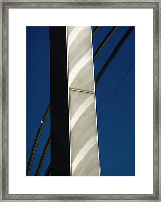 The Sail Sculpture  Framed Print by Steve Taylor