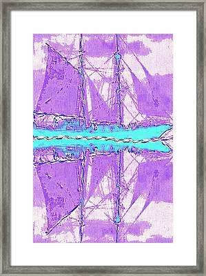 The Sailing Blues Framed Print