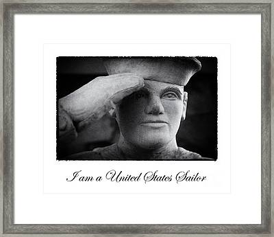 The Sailors Creed Framed Print