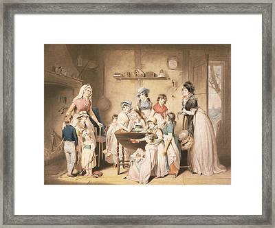 The Sailors Orphans, Or The Young Framed Print by William Redmore Bigg