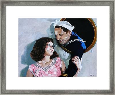 The Sailor's Return - Clara Bow Framed Print by Jo King